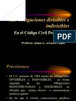Las Obligaciones Divisibles e Indivisibles