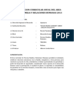 Programacion Curricular Anual Del Area Persona Familia y Relaciones Humanas 2013