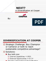 Cooper industry diversification strategy