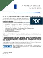Bulletin G25 2013