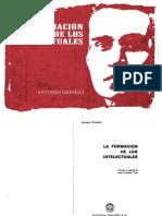 Antonio Gramsci La Formacion de Los Intelectuales
