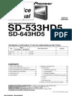 Pioneer Sd-533hd5 643hd5