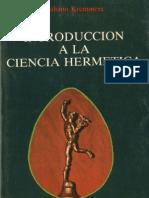Kremmerz, Giuliano - Introducción a la Ciencia Hermética