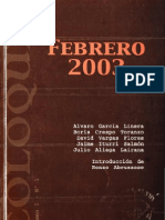 Febrero 2003. Coloquio I