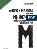 Toshiba MJ 1017/18 Service Handbook