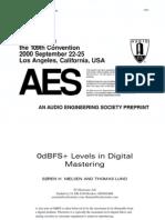 0dbFS Levels in Digital Mastering