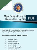 Sir Calma-presentation Mga Pangulo Ng Ikatlong Republika