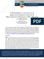 CFC Thematic Report - A Global Review (2012-2013) of Improvised Explosive Devices & Mine/Explosive Remnants of War Hazards in Afghanistan, 23 May 13