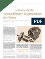 Pruebas de circuito abierto y cortocircuito en los generadores sincrónicos