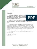 Prayer Letter for High Power Soccer