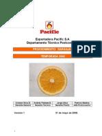 Norma de Calidad y Embalaje Pasific Naranjas
