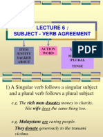 Lecture 6 Subject Verb Agreement Gwyn