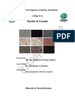 Tdap Report on Marble and Granite