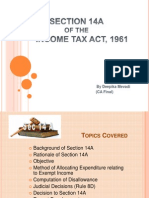 Section 14A of I Tax Act
