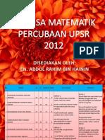 Analisa Utk Debrifing PPD MT Trial 2012