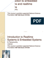 Intro Sept 1 Introduction to embedded systems and realtime systems