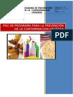 Programa prevención de la contaminacion Cruzada