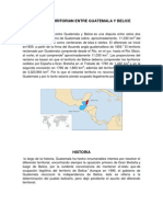 Litugio Territorian Entre Guatemala y Belice (Bien Realizado)