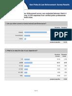 Gun Policy & LawEnforcement Survey Results 2013