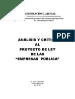 Analisis Proyecto de Ley Empresa Publica