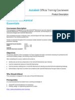 Autocad Mechanical Essentials