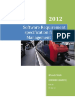 89234886 Software Requirement Specification for Bank Management System