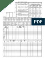 Chart Jeeva Sareera Template