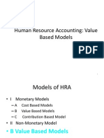HRA Models - Value Based Models