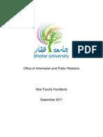 New Faculty Handbook