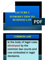 Lecture 2 - Sources of Law