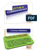 Lecture 4B - Common Mistakes