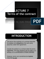 Lecture 7A- Terms of Contract [b&W)