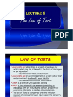 Lecture 8A - The Law of Tort
