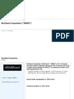 Multi Band Corp 20130408