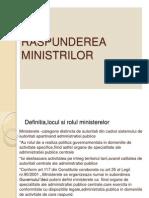 RASPUNDEREA MINISTRILOR