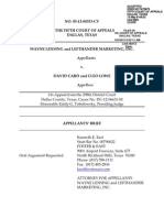 Wayne Lensing Appellants Brief