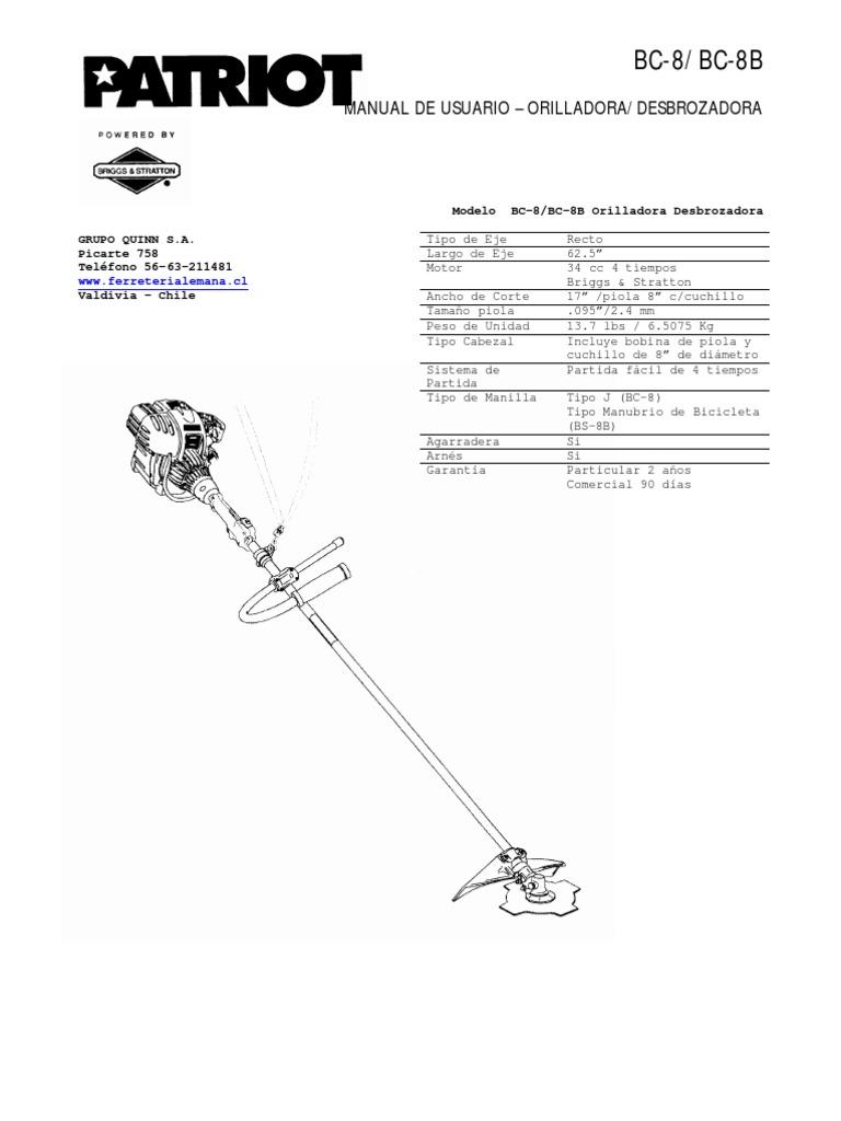 BC-8/BC-8B: Manual De Usuario
