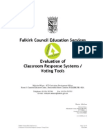 Evaluation of Classroom Response Systems/Voting Tools by Falkirk Council Education Services