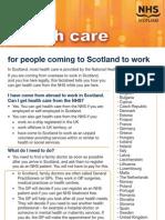 NHS Scotland Factsheet