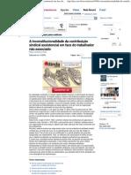 A inconstitucionalidade da contribuição sindical assistencial em face do trabalhador não associado - Revista Jus Navigandi - Do