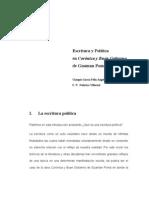 Escritura y Politica