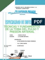 Monografia Del Pulso y Presion Arterial