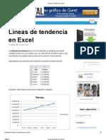 Líneas de tendencia en Excel