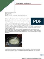 vyroba syru recepty