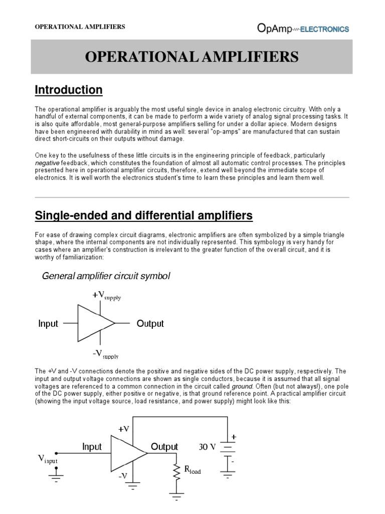 Operational Amplifiers Amplifier 232 Serial Port Circuit Diagram Amplifiercircuit