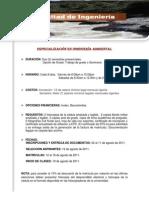 Especializacion en Ingenieria Ambiental-2011