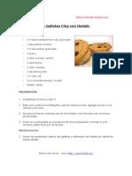 Sandwiches de Galletas Chip Con Helado