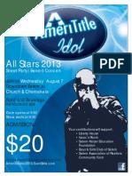 AmeriTitle Idol - All-Stars 2013