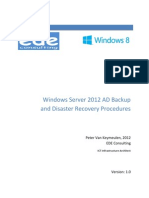 WindowsServer2012ADBackupandDisasterRecoveryProcedures_V1.0