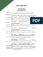 Resume of Judy Hunt